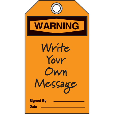 Warning Header Only - OSHA Safety Tags