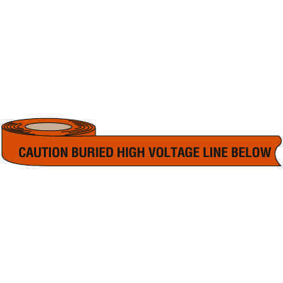 High Voltage Warning Tape