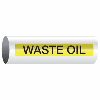 Waste Oil - Opti-Code™ Self-Adhesive Pipe Markers