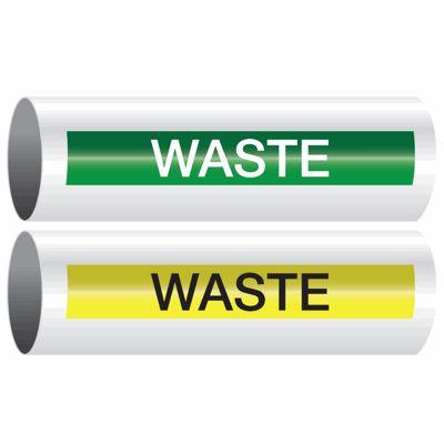 Waste - Opti-Code™ Self-Adhesive Pipe Markers