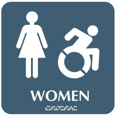 Women (Dynamic Accessibility) - Optima ADA Restroom Signs