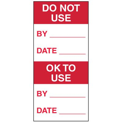 Write-On Action Labels - Do Not Use