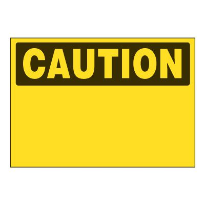Write-On Chemical Labels - Caution