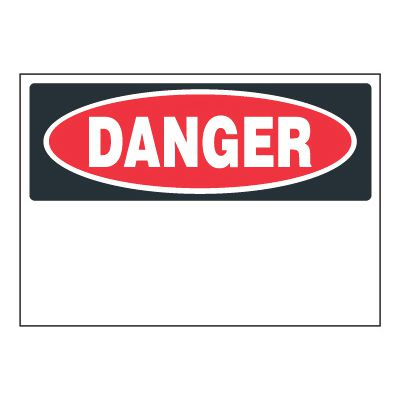Write-On Chemical Labels - Danger