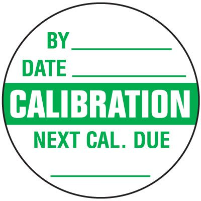 Calibration Write-On Label
