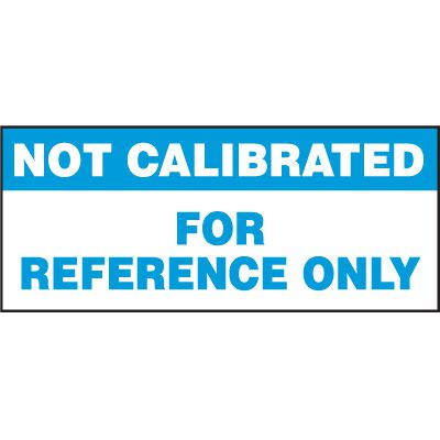 Not Calibrated Status Label