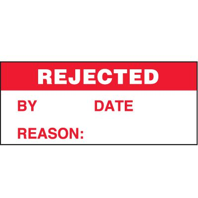 Rejected Status Label