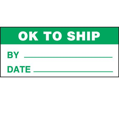 Ok To Ship Status Label
