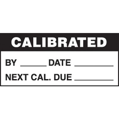 Calibrated Mini Write-On Status Labels - Black