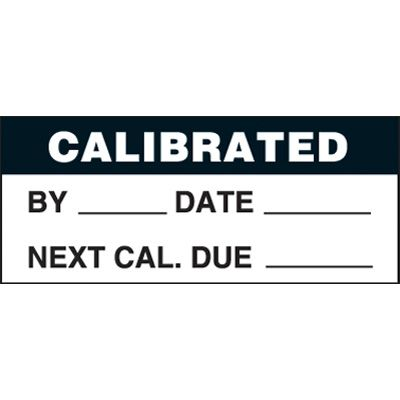 Calibrated Tamperproof Write-On Status Labels