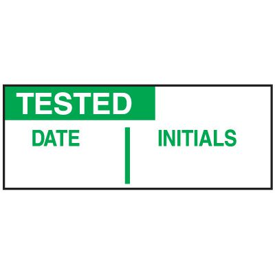 Tested Date Initials Write On Status Labels