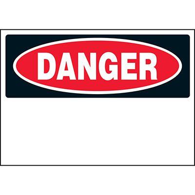 Write-On Vinyl Label - Danger
