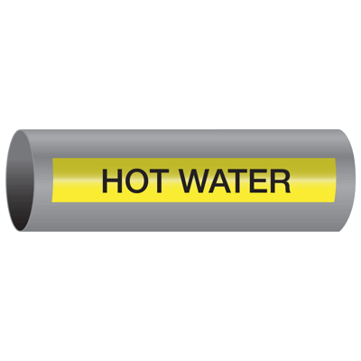 Hot Water - Xtreme-Code™ Self-Adhesive High Performance Pipe Markers