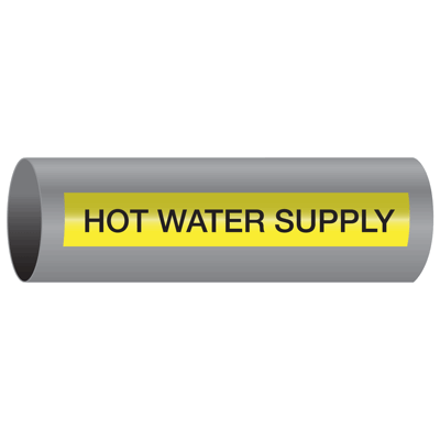 Hot Water Supply - Xtreme-Code™ Self-Adhesive High Performance Pipe Markers