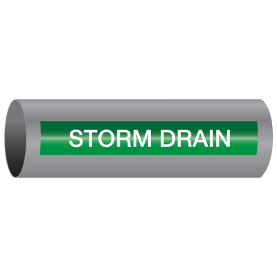 Storm Drain - Xtreme-Code™ Self-Adhesive High Performance Pipe Markers