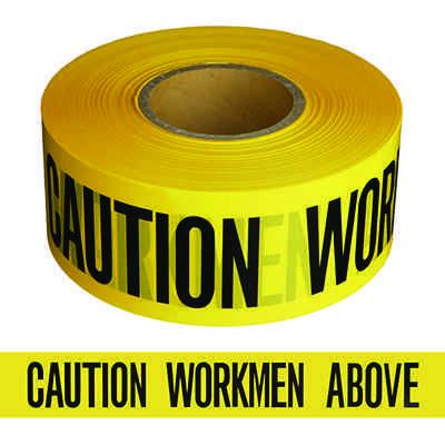 Caution Workmen Above Barricade Tape