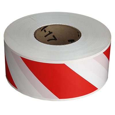 Red/White Striped Barricade Tape