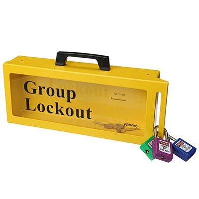 Brady® 46134 Metal Wall Lock Box - Yellow