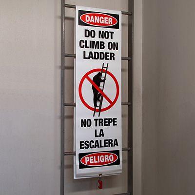 Ladder Guard - Do Not Climb On Ladder (Bilingual)