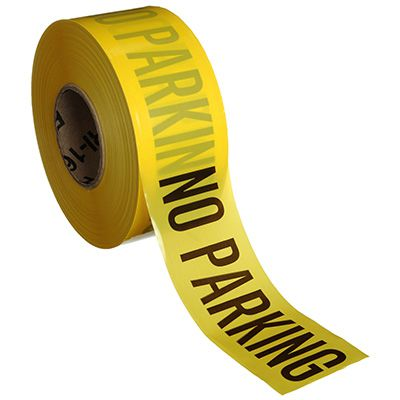 No Parking Barricade Tape