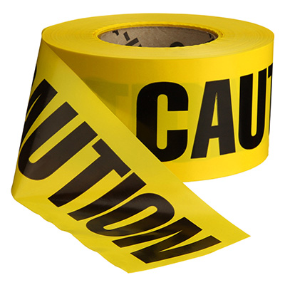 Biodegradable Caution Barricade Tape