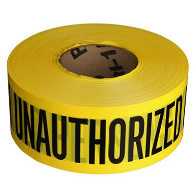 Caution Keep Out 30 Meters Yellow Forensics Crime Scene Tape CID Police Killer