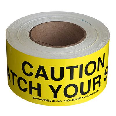 Watch Your Step Message Tape Nadco 3X200-SAWT8