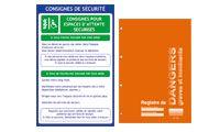 Affiches et registres obligatoires