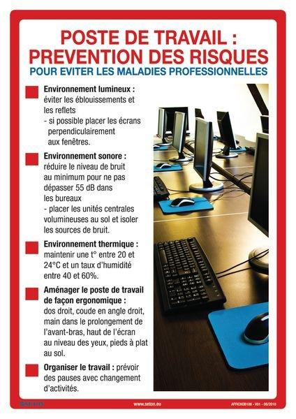 Poster prévention des risques au travail