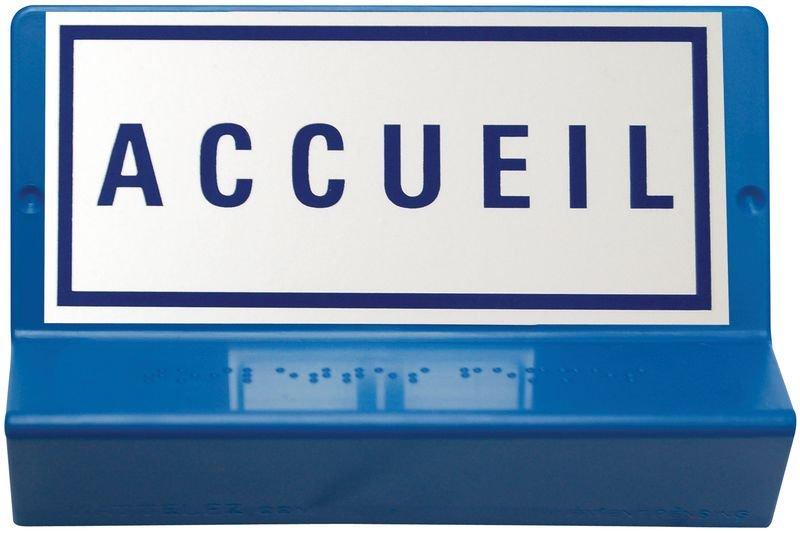 Signalétique braille 3D - Accueil