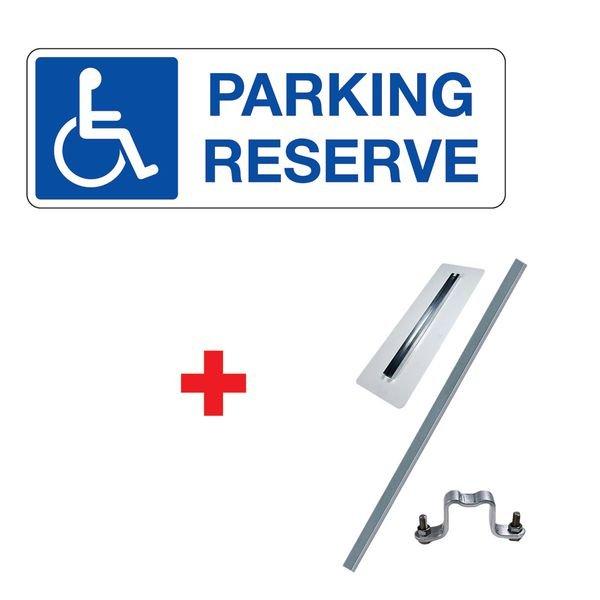 Kit panneau Parking réservé handicapés
