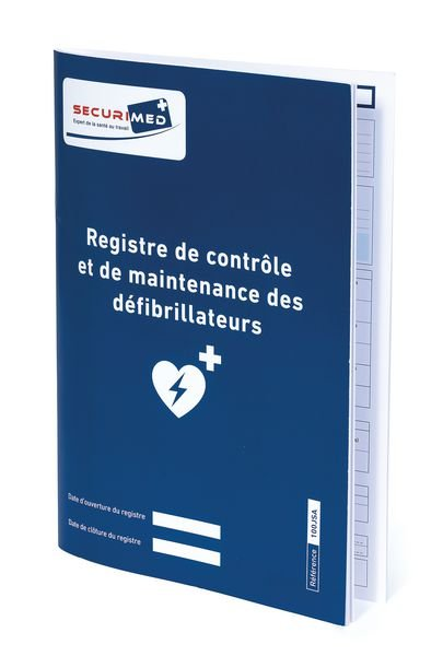 Registre de contrôle et de maintenance des défibrillateurs