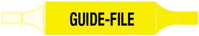 Brassards économiques Guide file