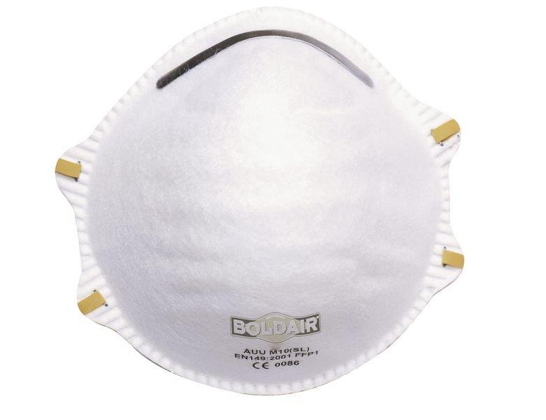 Masque respiratoire FFP1 sans valve