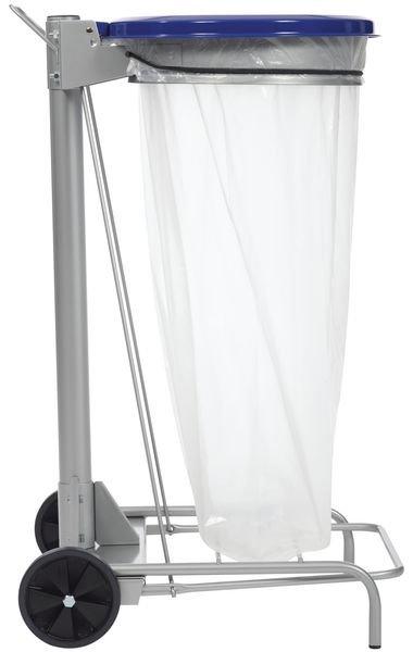 Support à pédale en acier pour sac poubelle 110L