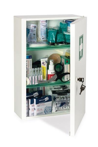 Armoire à pharmacie métal 1 porte - garnie