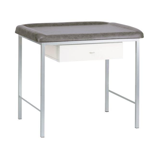 Table d'examen pédiatrique avec tiroir