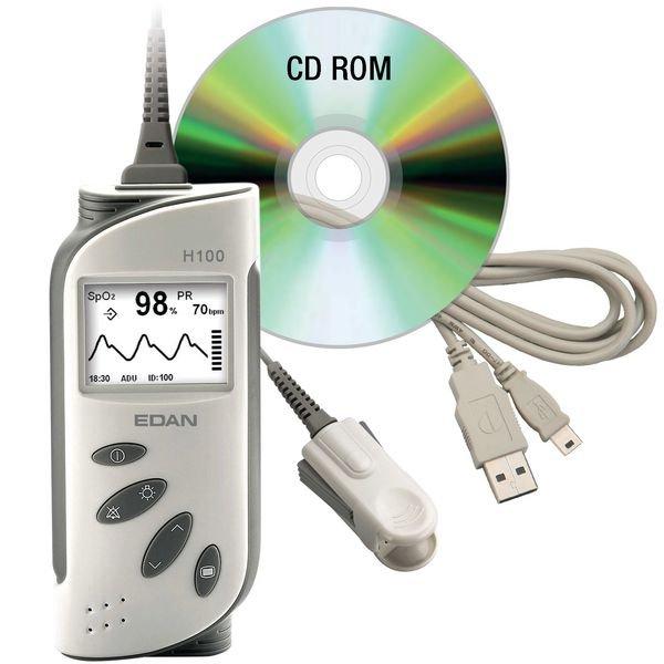 Logiciel transfert PC pour oxymètre de pouls Edan H100B