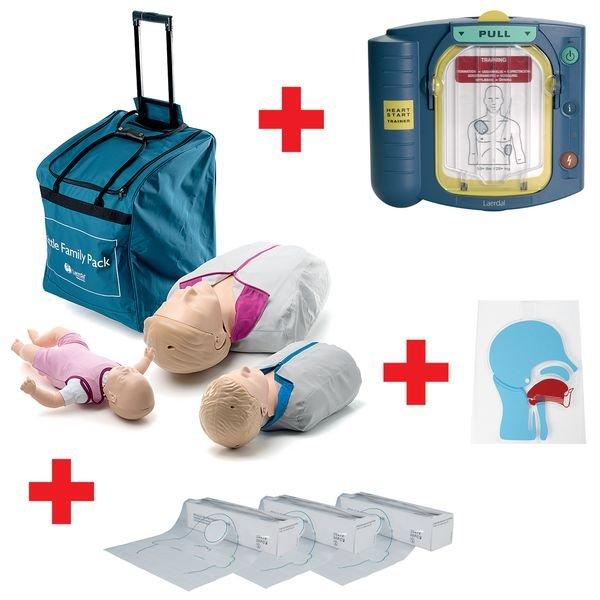 Pack Famille Little QCPR avec défibrillateur HS1 Trainer