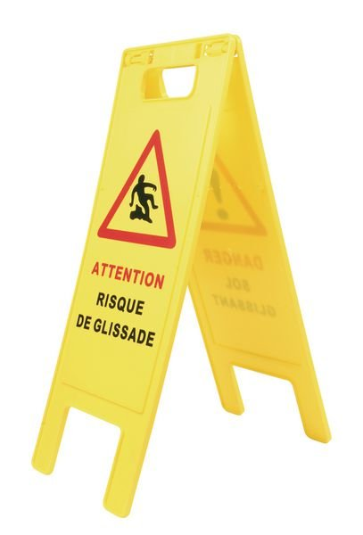 """Balise de danger """"sol glissant"""""""