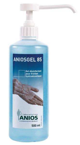 Gel hydroalcoolique Aniosgel 85 bleu