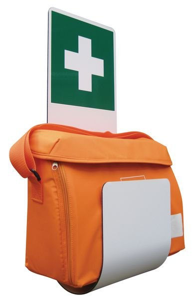 Sacoche médicale de soins d'urgence avec support mural