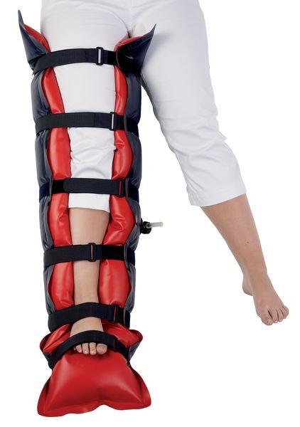 Attelle à dépression pour jambe complète