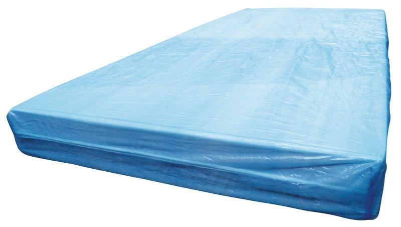 Drap housse jetable plastifié bleu 1 personne