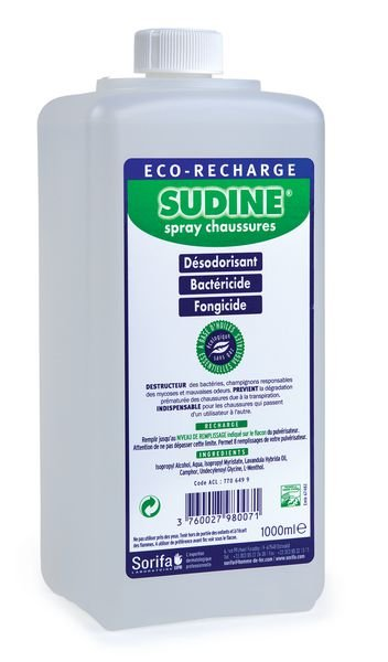 Recharge spray chaussures Sudine® 1L