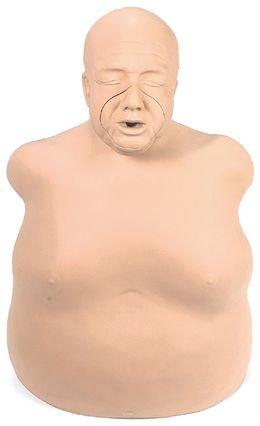 Peaux de visage pour mannequin de secourisme corpulent