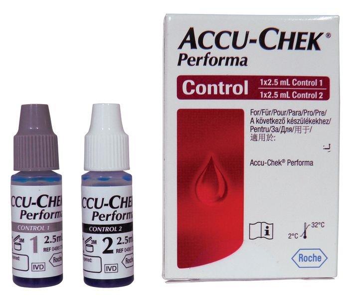 Solutions de contrôle lecteur de glycémie Accu Chek®