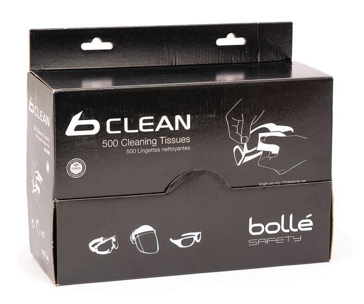 Distributeur 500 lingettes pour lunettes b-clean Bollé Safety