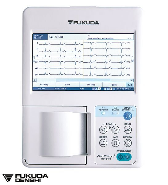 ECG Fukuda Denshi Cardimax FCP 8100 3 pistes