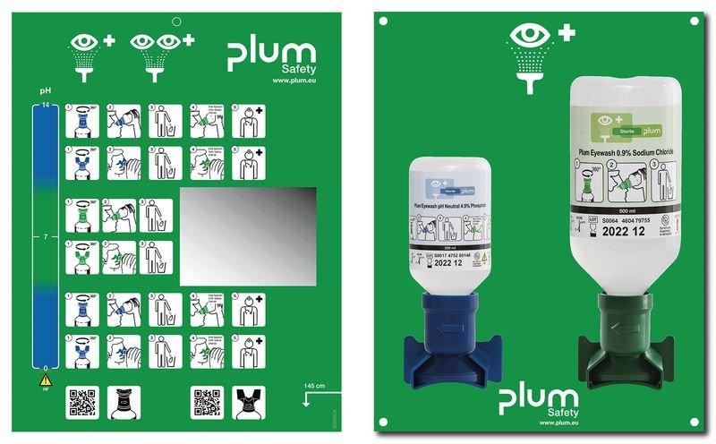Station de lavage oculaire - lave-œil + pH Neutral